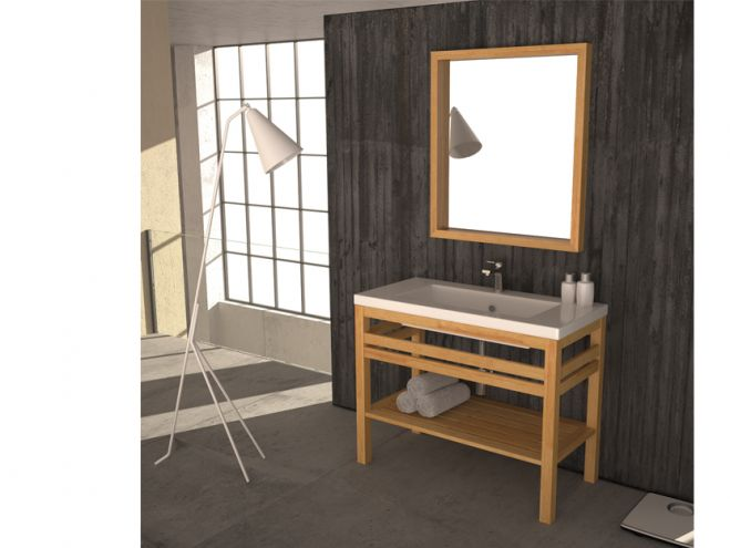 savvopoulos pure wood 001 106cm έπιπλο μπάνιου - bathroom-shop.gr