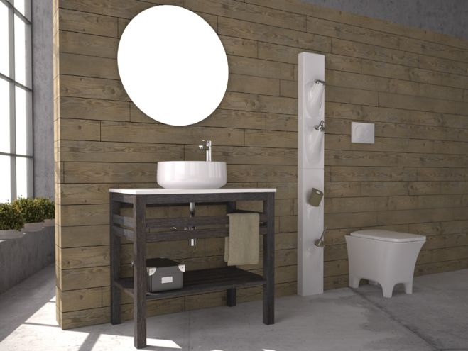 savvopoulos pure wood 002 106cm έπιπλο μπάνιου - bathroom-shop.gr